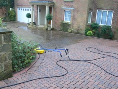 Block Paving Cleaning Before
