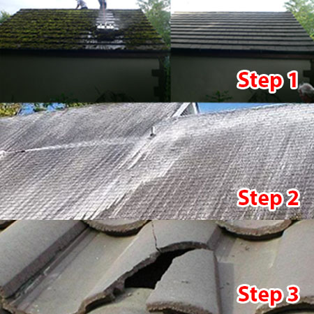 3 stage roof cleaning